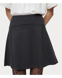 LOFT - Gray Pull On Flippy Skirt - Lyst