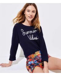 LOFT - Blue Summer Vibes Sweater - Lyst