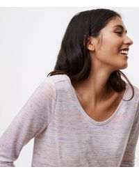 LOFT - Multicolor Petite Mixed Spacedye Long Sleeve Tee - Lyst