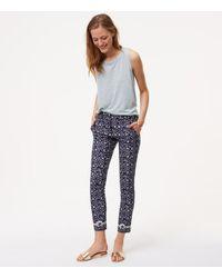 LOFT | Blue Floral Essential Skinny Ankle Pants In Marisa Fit | Lyst