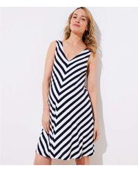 LOFT - Blue Maternity Chevron Sleeveless Swing Dress - Lyst