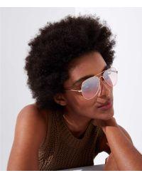LOFT - Multicolor Mirrored Aviator Sunglasses - Lyst