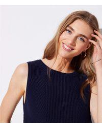 LOFT - Blue Eyelet Sweater Tank - Lyst