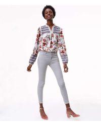 LOFT - Multicolor Skinny Brushed Corduroy Pants In Modern - Lyst