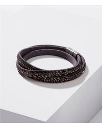 LOFT - Metallic Sparkle Time Wrap Bracelet - Lyst