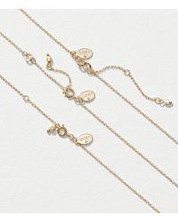 LOFT - Metallic Crystal Pendant Necklace Set - Lyst