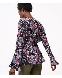 LOFT - Black Dahlia Garden Kimono Blouse - Lyst