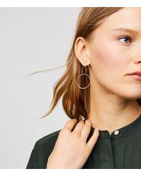 LOFT Metallic Linked Hoop Earrings