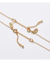 LOFT - Metallic Half Circle Pendant Necklace Set - Lyst
