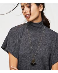 LOFT - Metallic Pom Pom Pendant Necklace - Lyst