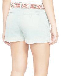Polo Ralph Lauren - Green Cotton Chino Shorts - Lyst