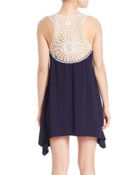 J Valdi   Black Crochet-accented Tank Dress   Lyst