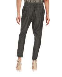Eileen Fisher - Black Slouchy Linen Ankle Pants - Lyst