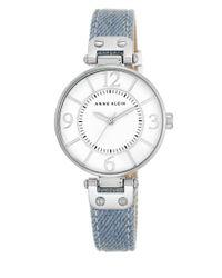 Anne Klein - Metallic Silvertone Light Denim Strap Watch, 10-9169wtld - Lyst