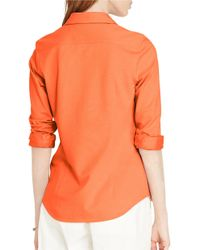 Lauren by Ralph Lauren - Multicolor Pique-knit Cotton Shirt - Lyst