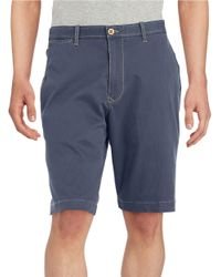 Tommy Bahama | Blue Bedford And Sons Flat Front Shorts for Men | Lyst