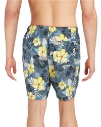 Tommy Bahama | Black Tropical Print Swim Trunks for Men | Lyst