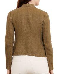 Lauren by Ralph Lauren - Multicolor Plus Textured Linen Jacket - Lyst