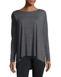 Gaiam - Black Heathered Long-sleeve Top - Lyst