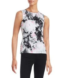 Marc New York | Black Floral Knit Shell | Lyst