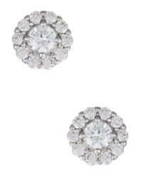 Nadri | Metallic Crystal And Cubic Zirconia Stud Earrings | Lyst