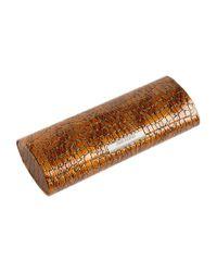 Corinne Mccormack - Brown Crocodile Print Magnetic Glasses Case - Lyst