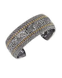 Effy - Metallic Balissima Sterling Silver And 18k Yellow Gold Cuff Bracelet - Lyst