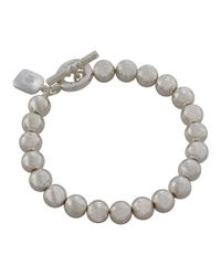 Lauren by Ralph Lauren | Metallic Beaded Bracelet With Toggle Closure | Lyst