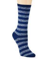 Hue - Blue Body Socks - Lyst