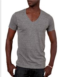 Alternative Apparel | Gray Boss V-neck T-shirt for Men | Lyst