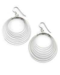 Lord & Taylor - Metallic Sterling Silver Orbital Wire Earrings - Lyst