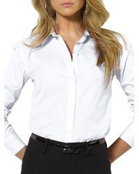 Lauren by Ralph Lauren | White Eyelet Cotton Shirt | Lyst