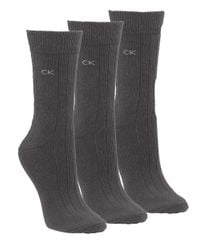 Calvin Klein | Gray Combed Cotton Socks | Lyst