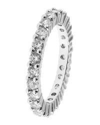 Michela - Metallic Rhinestone Ring - Lyst