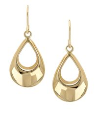 Lord & Taylor - Metallic 14k Yellow Gold Drop Earrings - Lyst
