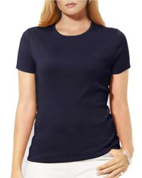 Lauren by Ralph Lauren - Blue Plus Short-sleeved Crewneck T-shirt - Lyst