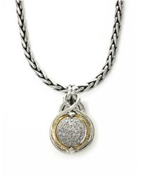 Lord & Taylor | Metallic Balissima Diamond Accented Pendant In Sterling Silver With 18k Yellow Gold | Lyst