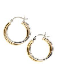 Lord & Taylor | Metallic Sterling Silver Twist Hoop Earrings | Lyst