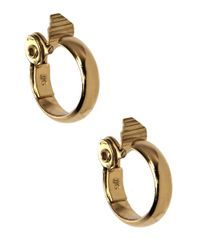 Anne Klein | Metallic 12 Kt Gold Plated Hoop Earrings | Lyst