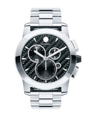 Movado | Metallic Mens Stainless Steel Chronograph Watch for Men | Lyst