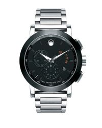 Movado - Black Mens Museum Stainless Steel Chronograph Watch for Men - Lyst