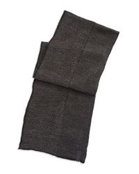 Calvin Klein | Black Tweed Scarf With Solid Trim for Men | Lyst
