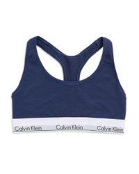 Calvin Klein   Blue Modern Cotton Bralette   Lyst