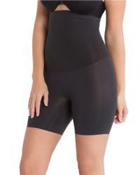 Spanx | Black Shape My Day High-waist Mid-thigh Shaper | Lyst