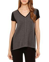 DKNY | Gray Urban Essentials Short Sleeve Top | Lyst