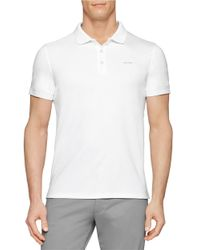 Calvin Klein | White Pima Polo Shirt for Men | Lyst