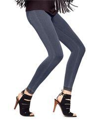 Hue | Blue Super Smooth Denim Leggings | Lyst