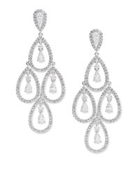Nadri - Metallic Cubic Zirconia Chandelier Drop Earrings - Lyst
