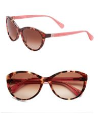 Diane von Furstenberg | Multicolor Blair 56mm Cat Eye Sunglasses | Lyst