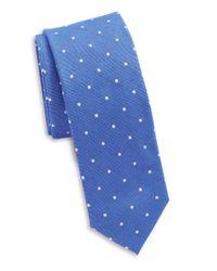 Original Penguin | Blue Silk And Cotton Tie for Men | Lyst